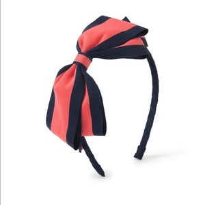 Striped bow head band New with tag size one